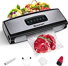 Vacuum Sealer Blusmart Food Sealer Machine with cutter for Food Savers, Seal Time+ Mode for Juicy and Moist Food, Consecut...