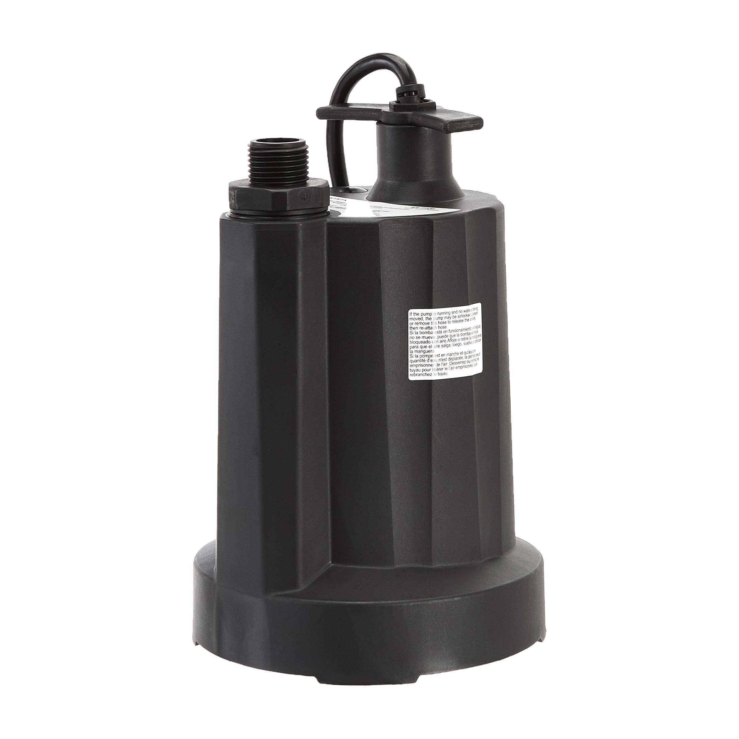 AmazonCommercial Thermoplastic Submersible Utility Black