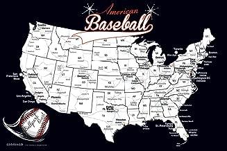 GEOJANGO Baseball Stadium Map - Sports Gift for Baseball Fans