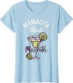 Womens Mamacita Needs a Margarita Basic, Mexican Vacation Fiesta.