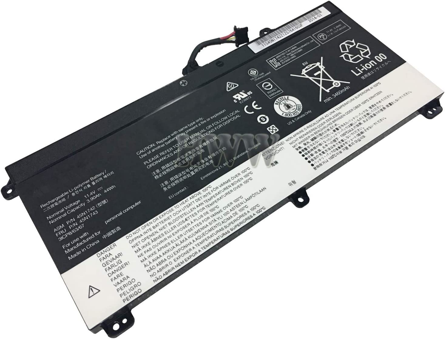 New 11.1V 44Wh 2021 Quantity limited spring and summer new 3900mAh 45N1742 Lenovo with Th Compatible Battery