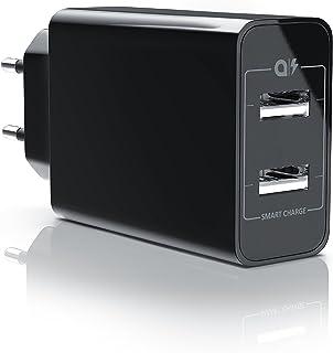 CSL - 24W USB 2 Port Ladegerät Netzteil Dual Port mit Smart Charge Solid Charge intelligentes Laden - kompatibel mit Apple...
