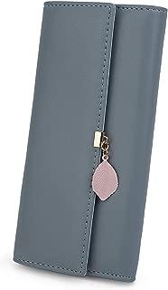 Wallet for Women PU Leather Leaf Pendant Card Holder...
