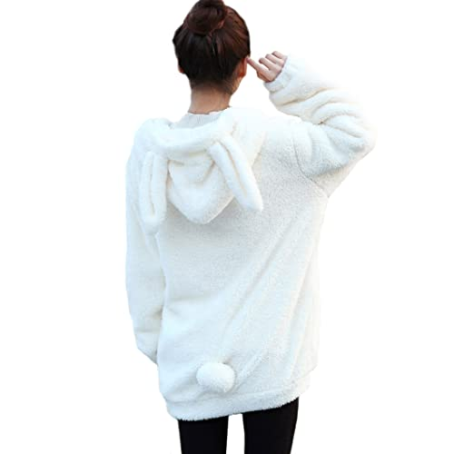 029c50351347 seemehappy Warm Soft Cute Bunny Shape Coat Bunny Hoodies with Ears and Tail