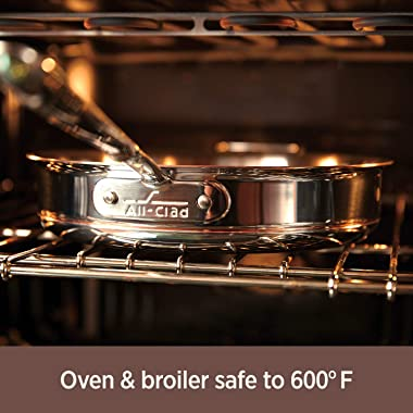 All-Clad 6405 SS Copper Core 5-Ply Bonded Dishwasher Safe Saute Pan / Cookware, 5-Quart, Silver