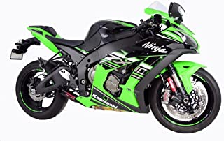 Coffman's Shorty Exhaust for Kawasaki ZX10 ZX10R 2016-2017 Sportbike deCAT with Black Tip