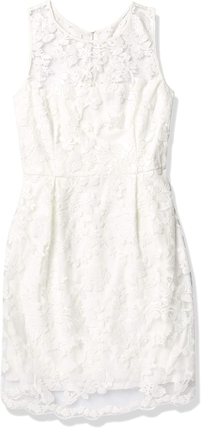 Donna Ricco Women's Sleeveless Lace and Sequin Dress