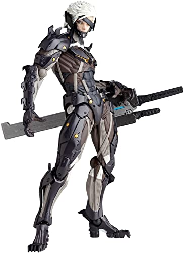 Revoltech Series No.140 Raiden Metal Gear Solid Rising Revengeance Raiden Action Figure