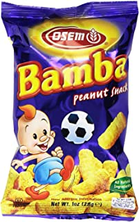 Osem Bamba Snacks, All Natural Peanut Butter Corn Puff Snack, 1 Oz (Pack Of 12)