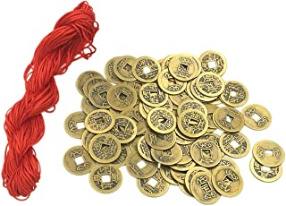 Babycola's Mum 77pcs Good Lucky Chinese Feng Shui Coins Fortune Coin 24mm Shui I-ching Coins,Mixed 5 Differern Chinese Dynasty Time Coin,A Big Value