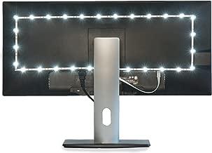 Luminoodle TV Bias Lighting - USB Powered LED Light Strip Kit - TV Backlight Home Theater Light System - White - Medium (24