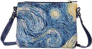 Signare Tapestry Vincent Van Gogh Starry Night Fashion Crossbody Shoulder Bag (XB02-ART-VG-STAR)