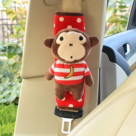 2pcs Netter Tier Weicher Geschirr Auto Sicherheitsgurt Auflagen Schulter Auflagen F R Kinder Affe Baby