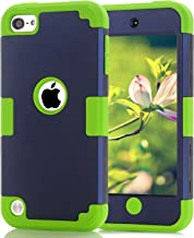 iPod Touch 7th Generation Case iPod Touch 2019 Dual Layered 3 in 1 Hard PC Case Silicone Shockproof Heavy Duty High Impact Armor Hard Case Cover for Apple iPod Touch 7th 6th 5th Generation (dark blue)