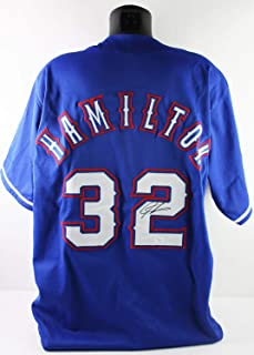 Josh Hamilton Autographed Signed Texas Rangers Jersey JSA Authenticated H48289 - Authentic Memorabilia