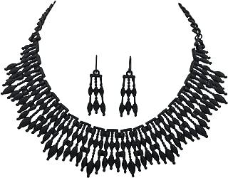 Unique Boutique Style Bib Statement Necklace & Dangle Earring Set