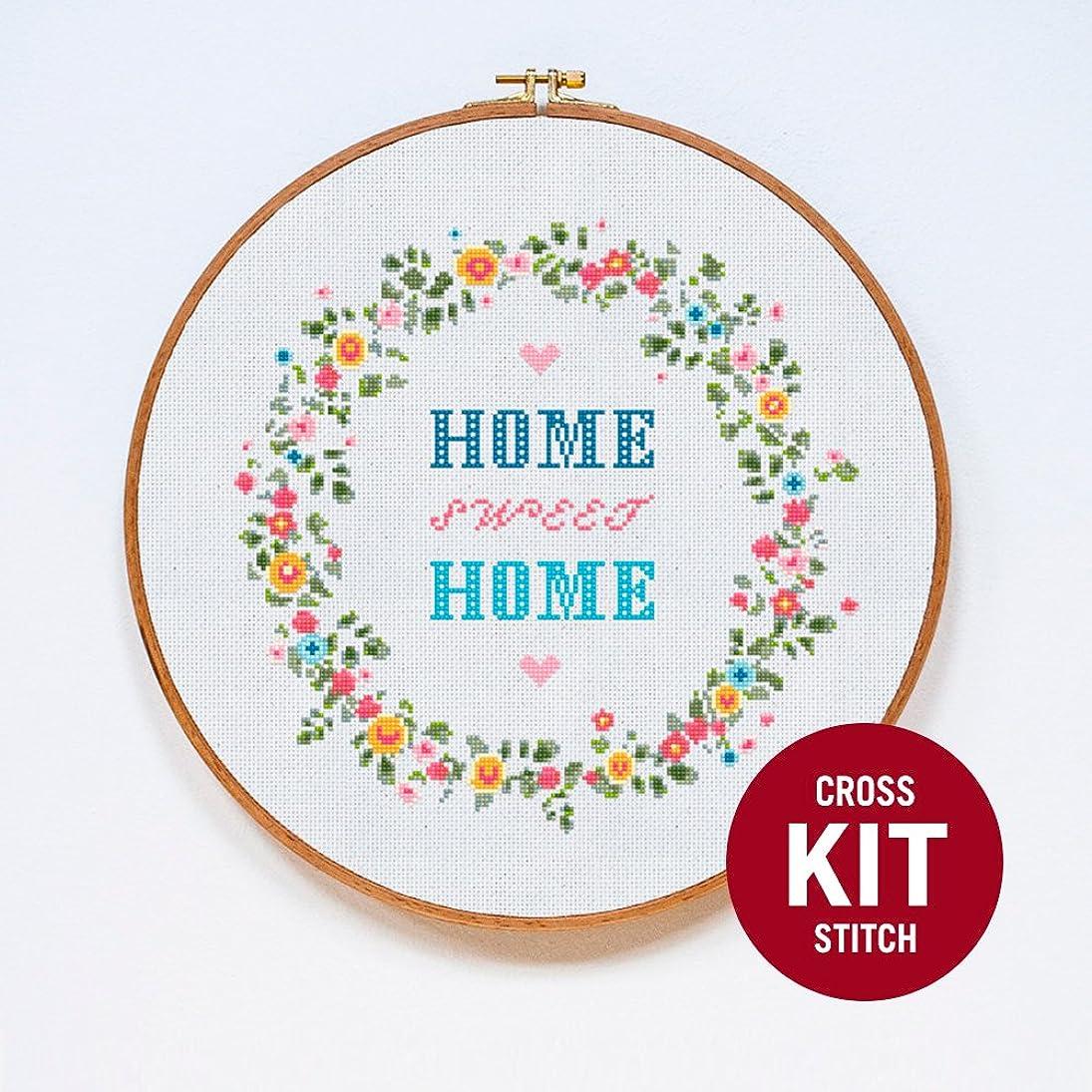 Home Sweet Home Modern Cross Stitch Kit by Stitchering xlzgjgkblcc682