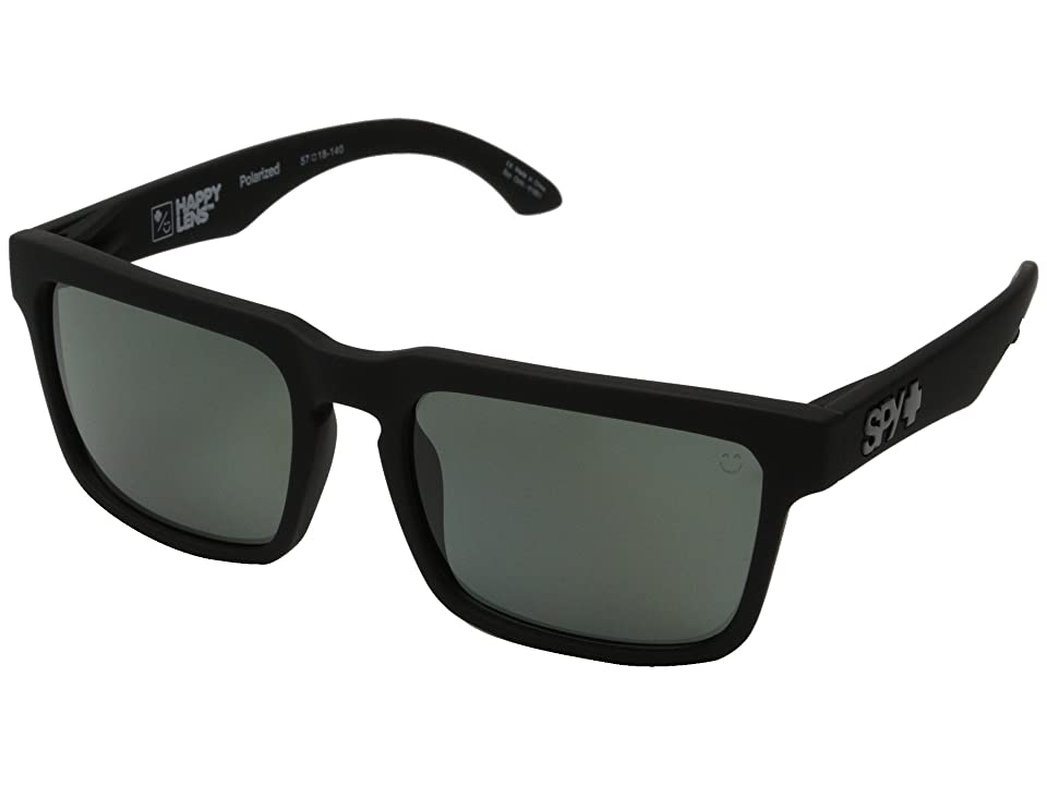 Spy Optic Helm (Soft Matte Black/Happy Gray Green Polar) Fashion Sunglasses