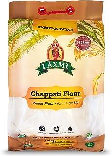 Laxmi Organic Chappati Flour, Wheat Flour, Farine De Ble, All Natural, Organic Ingredients, No Cholesterol, Vegetarian, Product of India (10 lbs)