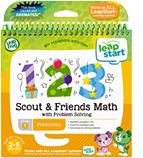 LeapFrog 80-460700 LeapStart Book, 3D Scout and Friends Math with Problem Solving, Level 1
