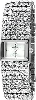Peugeot Women's Silver-Tone Crystal Strand Bracelet Watch