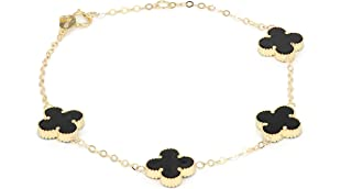 Pure Gold 18K Bracelet With Flowers Shape