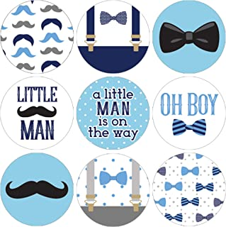 Little Man Baby Shower Favor Labels - 180 Stickers