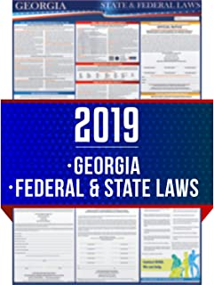2019 Georgia State and Federal Labor Laws Poster - OSHA Workplace Compliant 24
