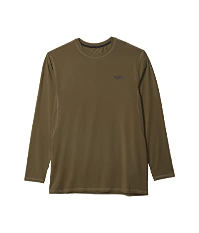 RVCA VA Sport Vent Long Sleeve Top (Olive) Men