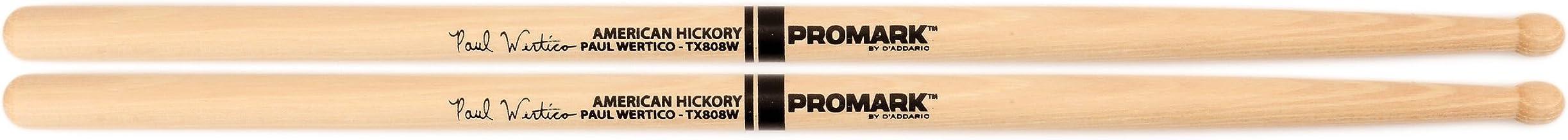 PROMARK プロマーク ドラムスティック シグネイチャーシリーズ Paul Wertico ヒッコリー WoodTip TX808W (406 x 14.7mm) 【国内正規品】