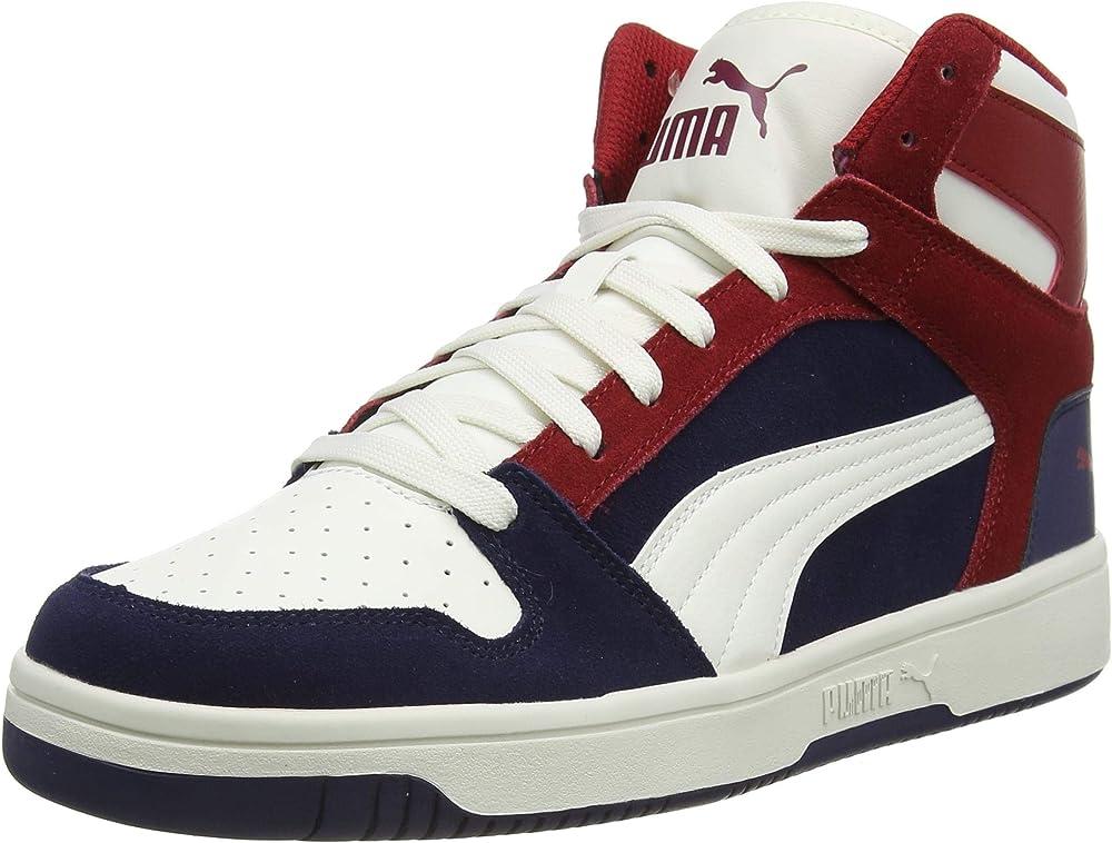Puma rebound layup sd, scarpe da ginnastica unisex 370219
