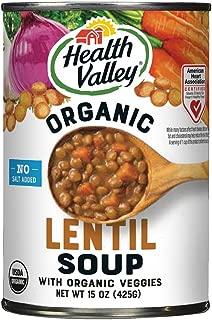 Health Valley Organic No Salt Added Soup, Lentil, 15 Ounce