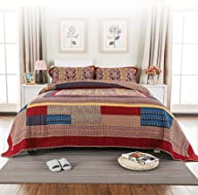 100% Cotton Quilted Bedspread 3-Piece Super Soft Patchwork Quilt Throw Bed Sheet Sofa Blanket Bed Cover Super King Bedding...