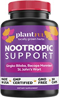 Nootropic Brain Supplement for Focus, Energy, Memory & Clarity Booster | 30 Capsules Fast Absorption Brain Vitamins for Ad...
