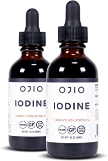 Sponsored Ad - Ojio Iodine Lugol's Solution - Іоdіnе Supplement for Thyroid Support – High Potency Iodine Drops with Super...