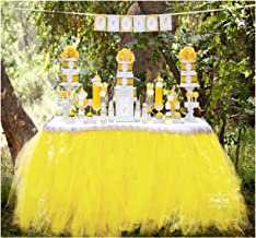 Best yellow tulle table skirt Reviews