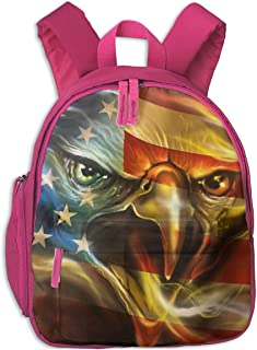 American Pride Eagle USA Flag Children's/Kids School/Nursery/Picnic/Carry/Travelling Bag Backpack Daypack Bookbags