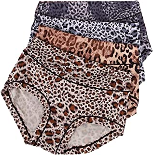 Women's Underwear with Medium Size Stretchy Soft Breathable High Waist Full Coverage Women's Briefs Panties Multipack