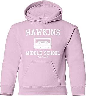 NuffSaid Youth Hawkins Middle School AV Club Hooded Sweatshirt - Stranger Kid's Hoodie