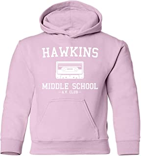 NuffSaid Youth Hawkins Middle School AV Club Hooded Sweatshirt - Stranger Kid's Hoodie
