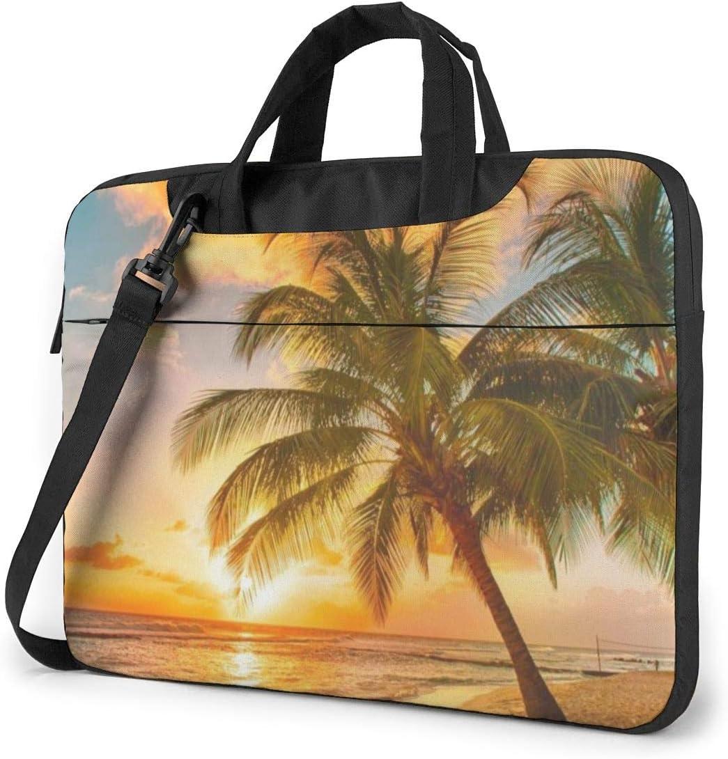 Laptop Shoulder Bag Lavender Meadow at Sunset Spring Carrying ...
