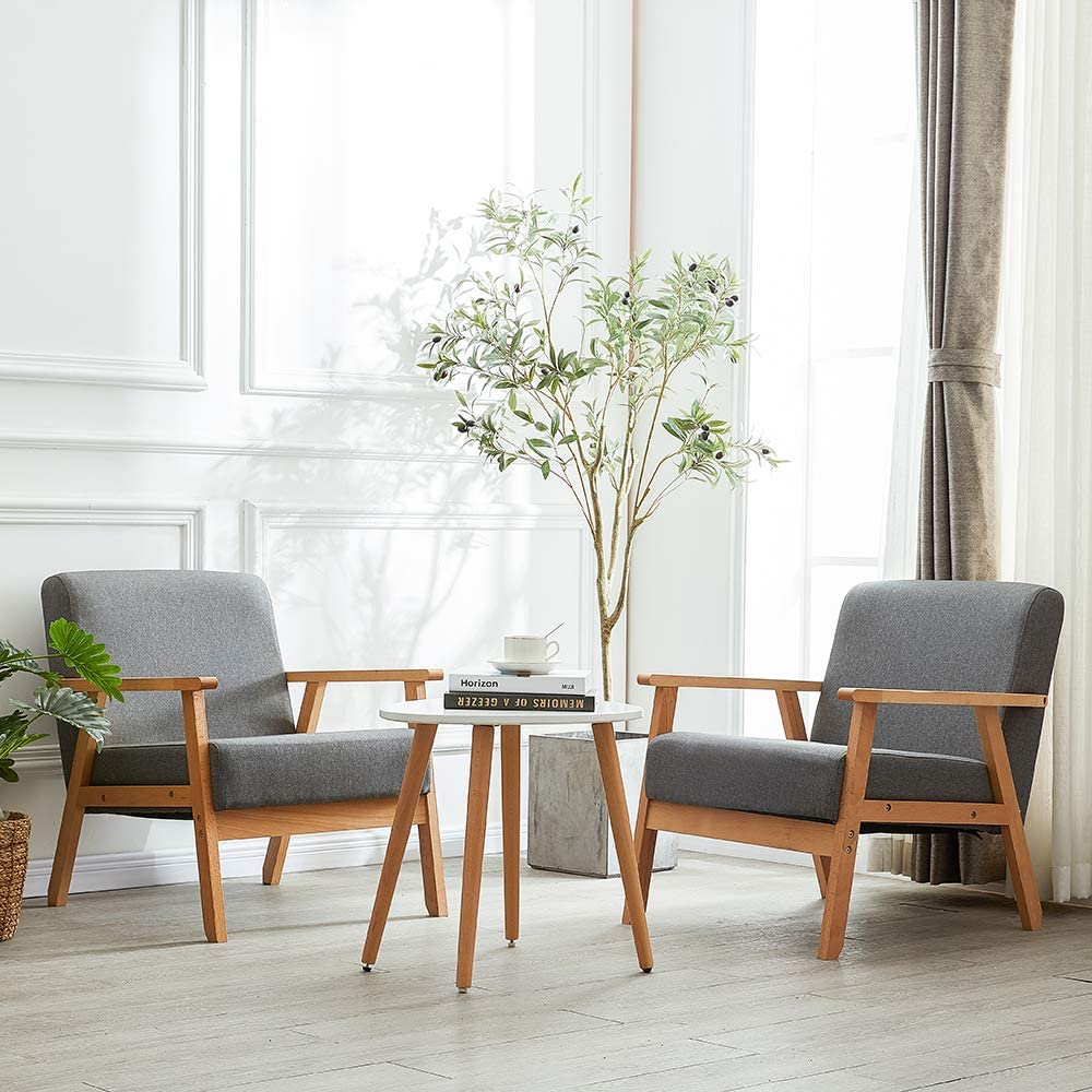 H.J WeDoo Scandinavian Design Linen Fabric Armchair Tub Chair 20 ...