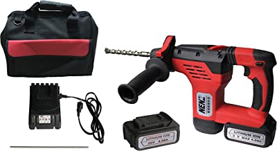 NENZ NZ-80Z Rotary Hammer SDS-plus Lightweight Construction Power Tool with 2 Lithium Batteries 1 Charger,Portable 20 V DC...