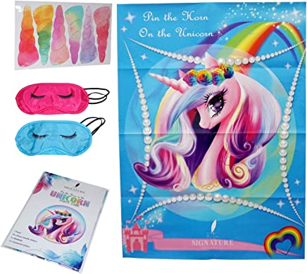 151150174a4 Signature Products Pin the Horn on the Unicorn Party Game