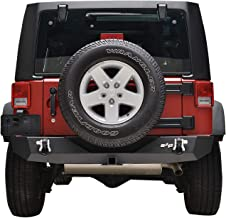 """KML Rear Bumper Offroad with 2"""" Hitch Receiver for 07-18 Jeep Wrangler JK"""