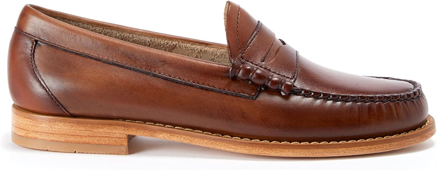 G.H. Bass Larson Burnished-Leather Loafer Brown