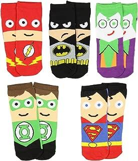 Mens Superhero Cartoon Character Socks 5 Pair