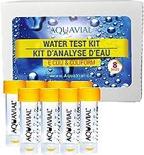 AquaVial Kit de Prueba de Agua 8 Pack para detectar Las bacterias E. coli y bacterias del Grupo coliforme| Juego de Alta sensibilidad para examinar Agua Potable o Agua de Pozo | DIY Prueba de Agua