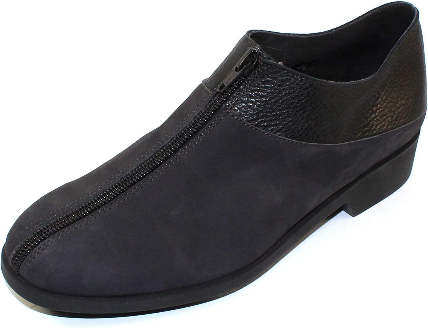 Arche Women's Iolong in Lauze Nubuck black Hopi Grain Leather - bluee-Grey Black - Size 39 M