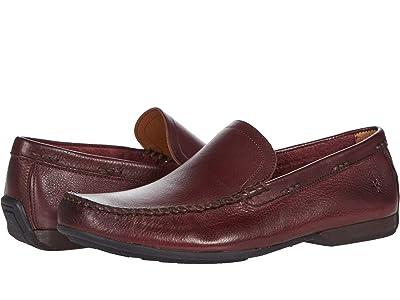 Frye Lewis Venetian (Oxblood Soft Pebbled Leather) Men